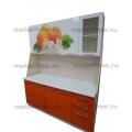 Кухонный гарнитур Белый-оранжевый с фотопечатью 1.8 м