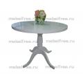 Кухонный стол круглый  на лапе белый