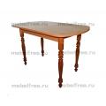 Кухонный стол коричневый овальный раздвижной