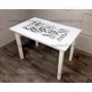 Кухонный стол стеклянный ажурный