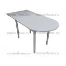 Кухонный стол пристеный раздвижной белый