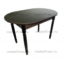Кухонный стол раздвижной черный глянец
