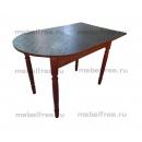 Кухонный стол пристеный раздвижной черный