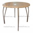 Обеденный стол из искусственного камня Бежевый