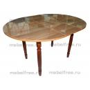 Кухонный стол круглый раздвижной Коричневый