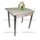 Кухонный стол ломберный раскладной бежевый