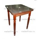 Кухонный стол ломберный раскладной коричневый