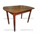Кухонный стол овальный раздвижной темный орех