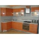 Кухонный гарнитур оранжевый глянец