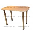Обеденный стол бежевый  хром