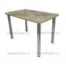 Обеденный стол из камня темно-бежевый
