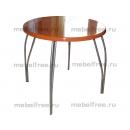 Обеденный стол из камня круглый оранжевый