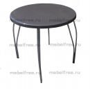 Обеденный стол из камня круглый серый