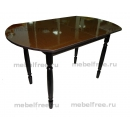 Кухонный стол овальный раздвижной венге