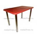 Обеденный стол прямоугольный  камень красный
