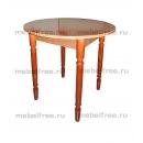 Кухонный стол круглый из пластика глянцевый