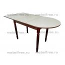 Кухонный стол пристеный раздвижной лен