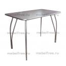 Обеденный стол из пластика серый