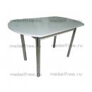Кухонный стол белый глянец овальный раздвижной