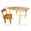 Столик и стульчик  детские из массива