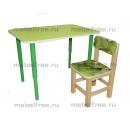 Столик  детский зеленый