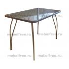 Обеденный стол из искусственного камня серый