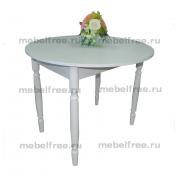 Кухонный стол круглый раздвижной белый