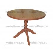 Кухонный стол круглый  на одной лапе