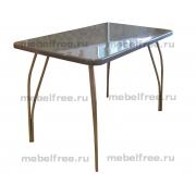 Обеденный стол из искусственного камня темно-серый