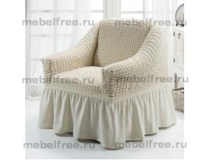 Купить еврочехол на кресло Бежевый