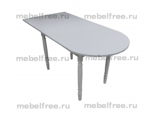 Стол кухонный пристеный раздвижной белый