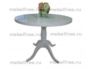 Купить кухонный стол круглый массив белый