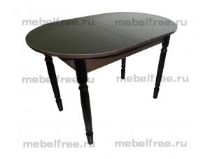 Стол кухонный раздвижной черный глянец