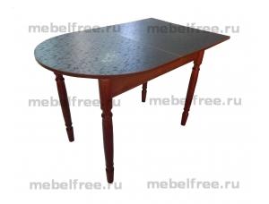 Стол кухонный пристеный раздвижной черный