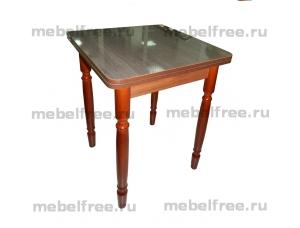 Стол кухонный ломберный раскладной коричневый