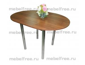 Стол кухонный круглый раздвижной Коричневый