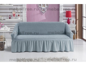 Купить еврочехол на двухместный диван серый