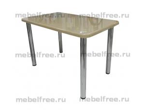Обеденный стол из  камня темно-бежевый недорого