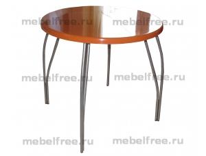 Купить обеденный стол из камня оранжевый