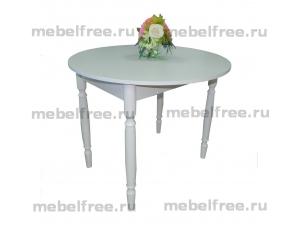Стол кухонный круглый раздвижной белый