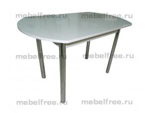 Стол кухонный белый глянец раздвижной