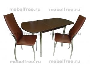 Стол кухонный раздвижной коричневый