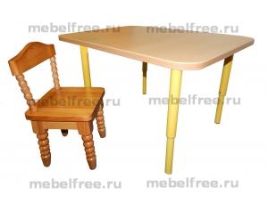 Купить столик и стульчик  детские из массива