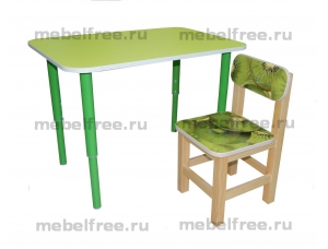 Купить столик  детский зеленый