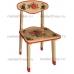 Купить столик  и стульчик  детский из массива с хохломой